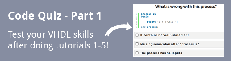 VHDL Tutorial Code Quiz - Part 1