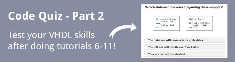 VHDL Tutorial Code Quiz - Part 2