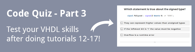 VHDL Tutorial Code Quiz - Part 3