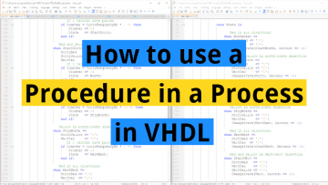 How to use a Procedure in a Process in VHDL