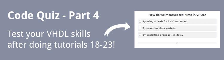 VHDL Tutorial Code Quiz - Part 4
