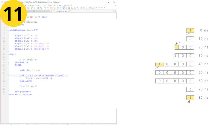 How to create a signal vector in VHDL: std_logic_vector