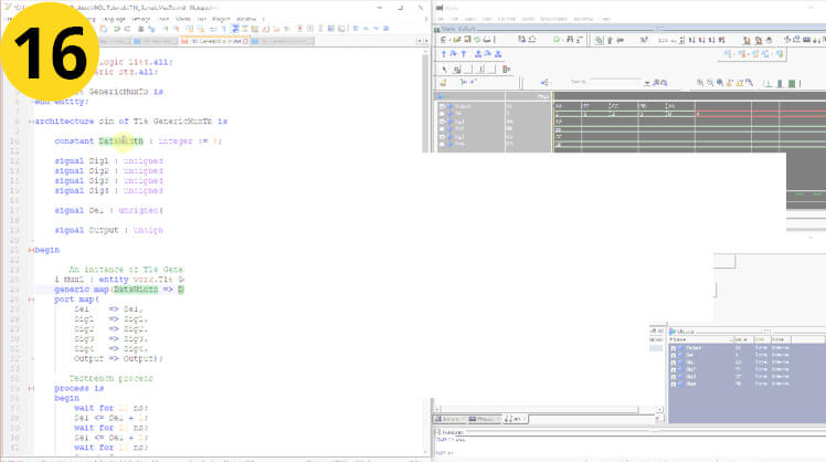 How to use Constants and Generic Map in VHDL