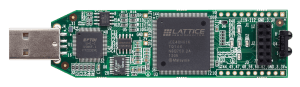 Top view of the Lattice iCEstick FPGA development board