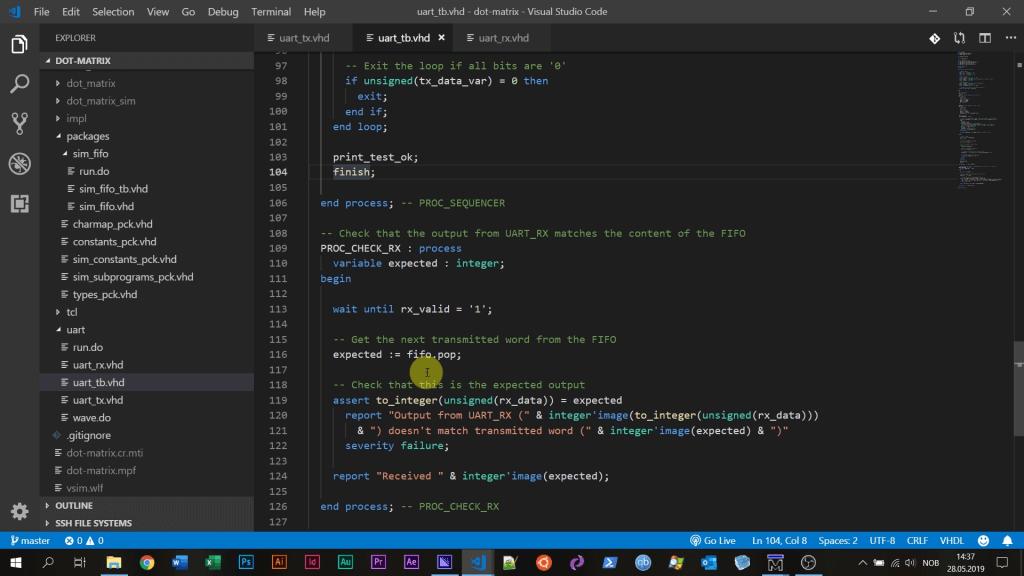 Coding VHDL in VSCode