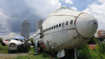 Decommissioned Boeing 747