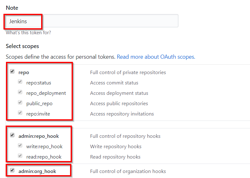 GitHub new personal access token