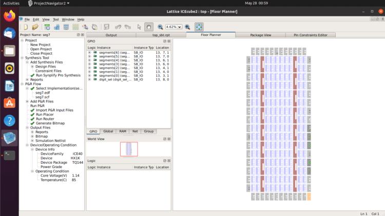 Lattice iCEcube2 running in Ubuntu 20.04