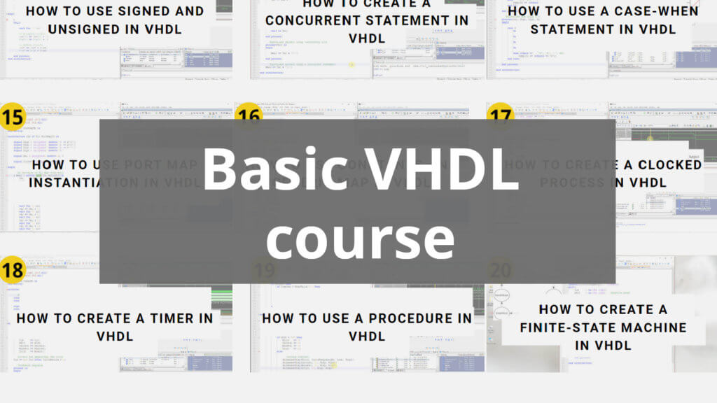 Basic VHDL course