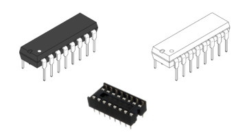 IC sockets illustrating VHDL configurations