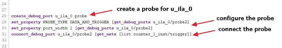 Create a probe for u_ila_0