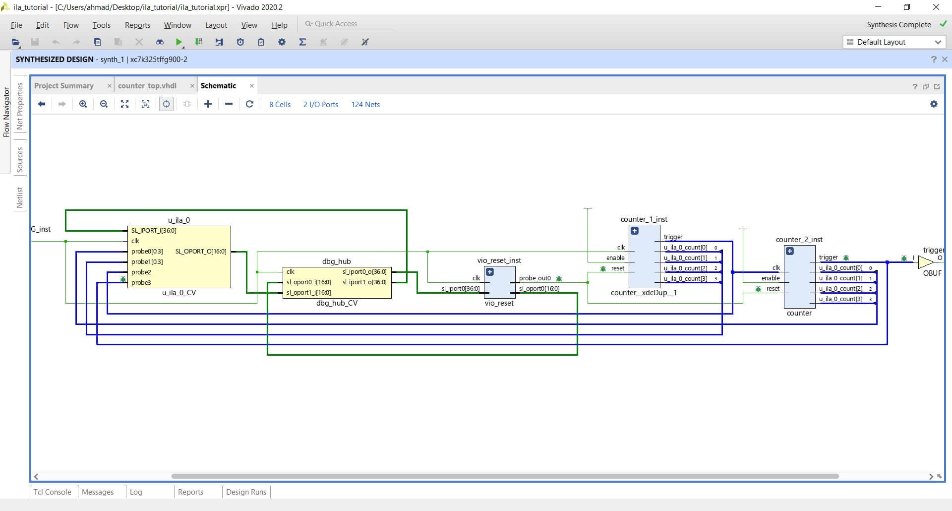 Vivado synthesized design schematics