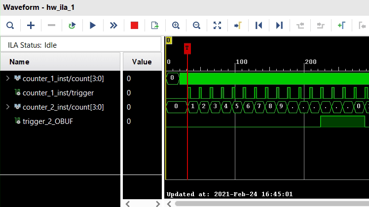 Using Integrated Logic Analyzer (ILA) and Virtual Input/Output (VIO)