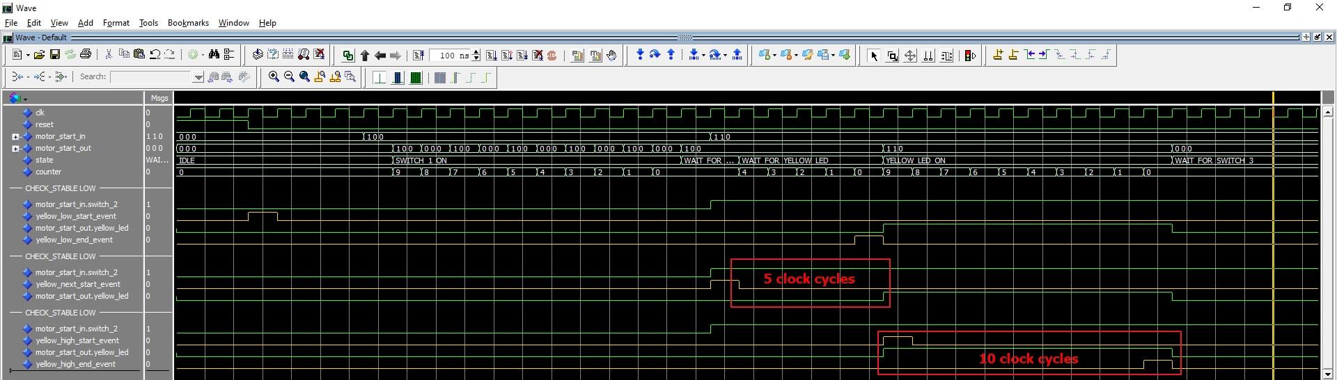 ModelSim waveform