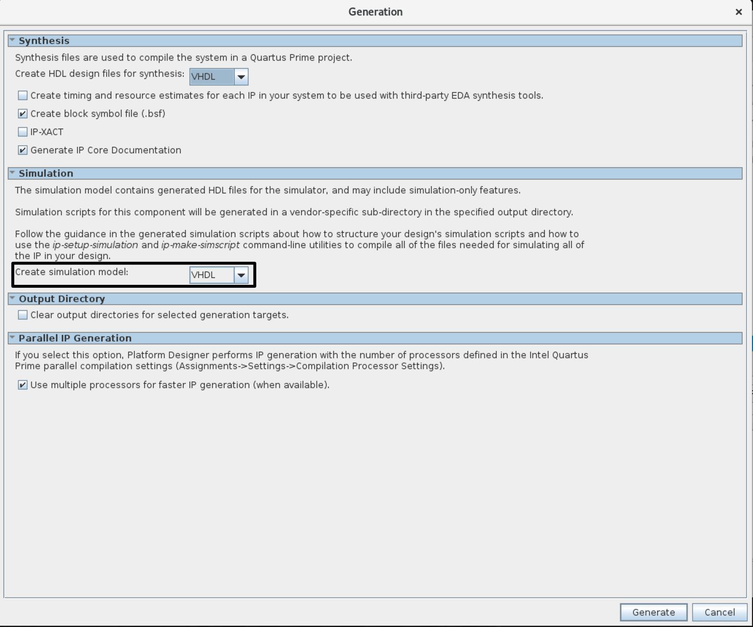 Create simulation mode